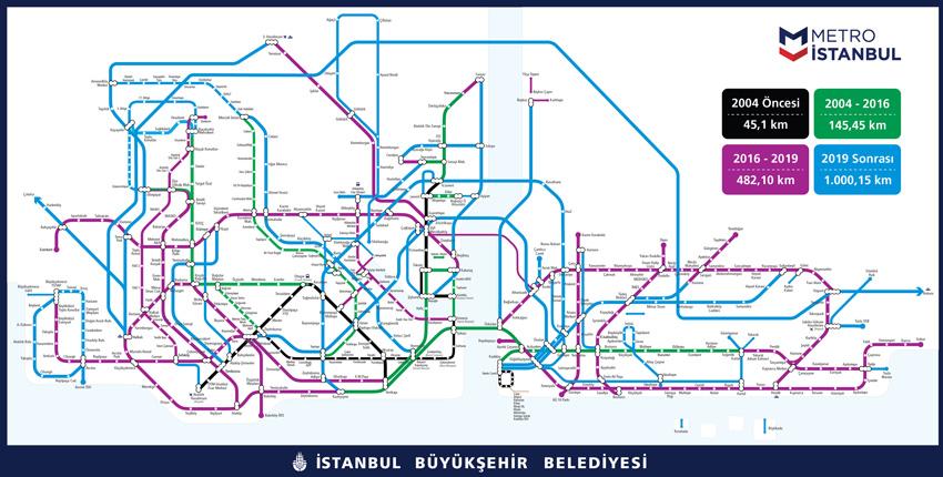 Istanbul Subway Map 2015.Turkey Istanbul Metro Kabatas Mecidiyekoy Mahmutbey Rail System