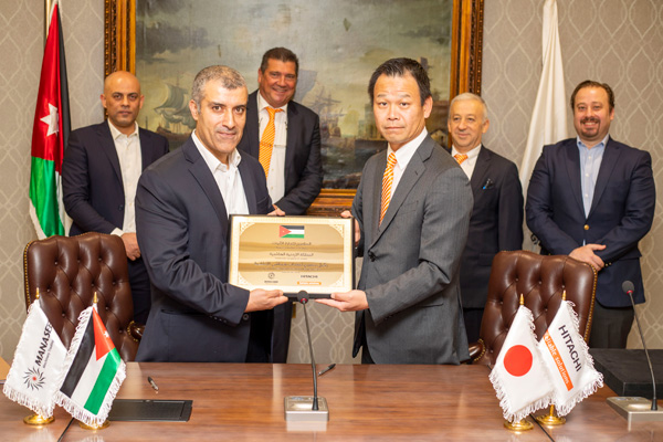 Hitachi announces a new dealer in Jordan.